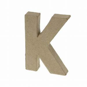 Paper mache small letter k 10cm high x 2cm thick for Small paper mache letters