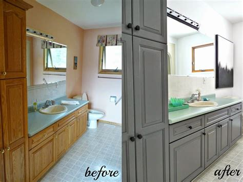 painted bathroom cabinets before and after painting bathroom cabinets ideas homeoofficee com