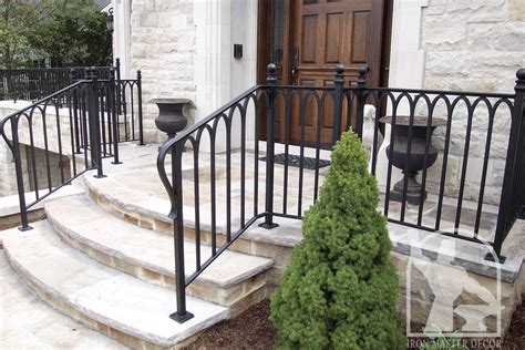 Interior and exterior stair railings. Wrought Iron Exterior Railings Photo Gallery | Iron Master