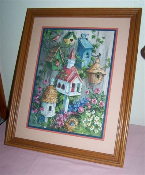 Home Interiors Gifts Wall Hanging Oak Framed Picture Art