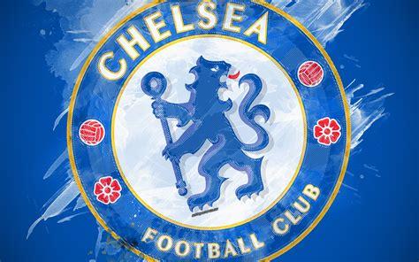 Download wallpapers Chelsea FC, 4k, paint art, logo ...