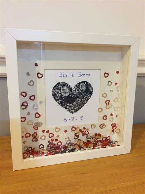 diy wedding present ikea ribba frame  card fabric