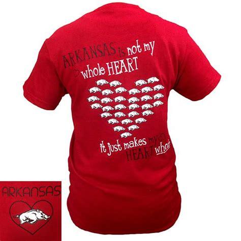 arkansas razorbacks hogs  heart girlie bright  shirt simplycutetees