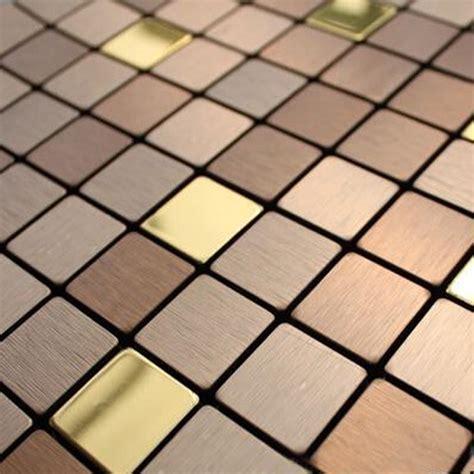 adhesive backsplash tiles for kitchen kaufen großhandel metall fliesen mosaik aus china metall fliesen mosaik großhändler