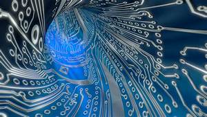 Abstract Light Blue Video Animation Circuit Board Website