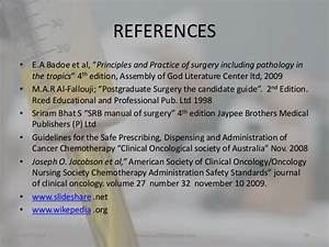 Principles Of Cancer Chemotherapy