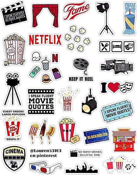 cinema retro filmaufkleber stickers filmaufkleber
