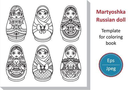 Matryoshka. Russian Folk Wooden Doll. Babushka Doll