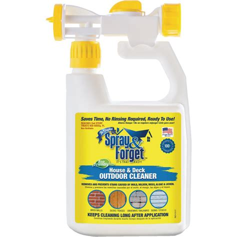 spray forget  oz house  deck cleaner outdoor mold