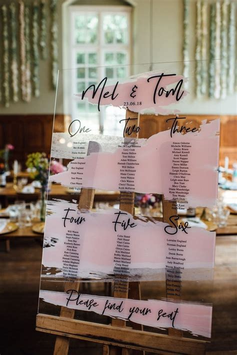 unique wedding seating chart ideas deer pearl flowers