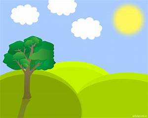 Nature clipart landscape - Pencil and in color nature ...