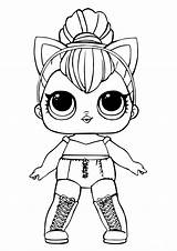 Lol Coloring Dolls Pages Doll Sheets Surprise Kitty Queen Printable sketch template