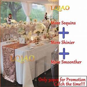 Chemin De Table Rose Gold : 12x72 pouces 12x108 scintillant rose paillette d 39 or chemin ~ Teatrodelosmanantiales.com Idées de Décoration
