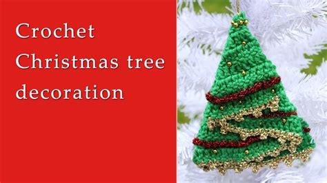 crochet christmas tree decoration tutorial youtube