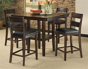 Dining Room Pub Style Dining Set With Square Table Made