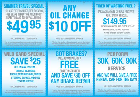 nissan 24 oil change coupons