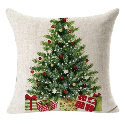 amazon christmas tree pillow cover 2 18 shipped