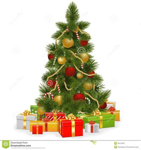 193 rbol de navidad del vector con los regalos ilustraci 243 n