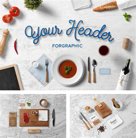 ✓ free for commercial use ✓ high quality images. Restaurant Food Mock-Up | PSD Templates | forgraphic™