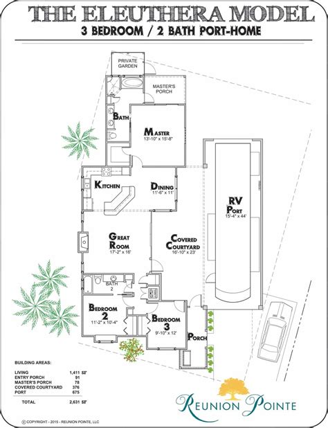 They can have their romantic honeymoon in the private barndominium with no one disturbing. Eleuthera RV Port-Home Model Floorplan   House floor plans ...