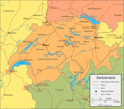 Carte Suisse by Switzerland Map And Satellite Image