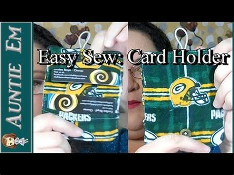 easy sewing project card holder youtube  images