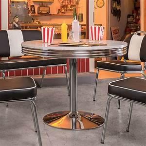 American Diner Tisch : esstisch elvis tisch bistrotisch edelstahl wei 100 american diner 50er jahre ebay ~ Frokenaadalensverden.com Haus und Dekorationen
