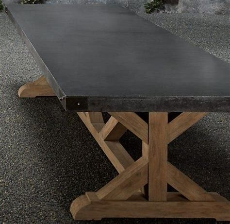concrete top outdoor dining table concrete top table by nuele bret 39 s office pinterest