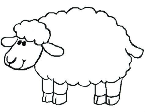 sheep templates printable clipart