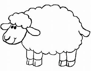 Sheep templates printable clipart best for Lamb template to print