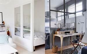 6 idees pour diviser un studio joli place for Idee deco cuisine avec lit escamotable