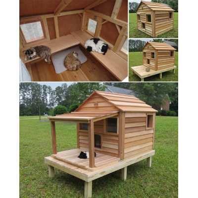 cool cedar cat cottage catsplay superstore