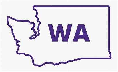 Washington State Outline Clipart Rubber Stamps Transparent