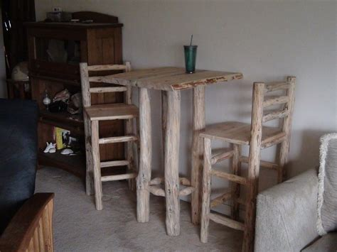 rustic pub table and chairs by superdave02 lumberjocks