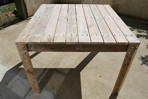 Table De Jardin Palette. table de jardin en palette au bout du bois ...