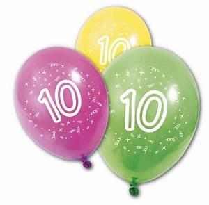 Deco Anniversaire 10 Ans : ballon anniversaire 10ans x8 ref ba1010 ~ Melissatoandfro.com Idées de Décoration