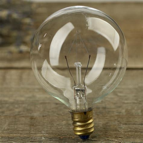 clear globe candelabra base light bulb on sale home decor