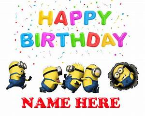 Despicable Me Minions Personalized Happy Birthday Digital