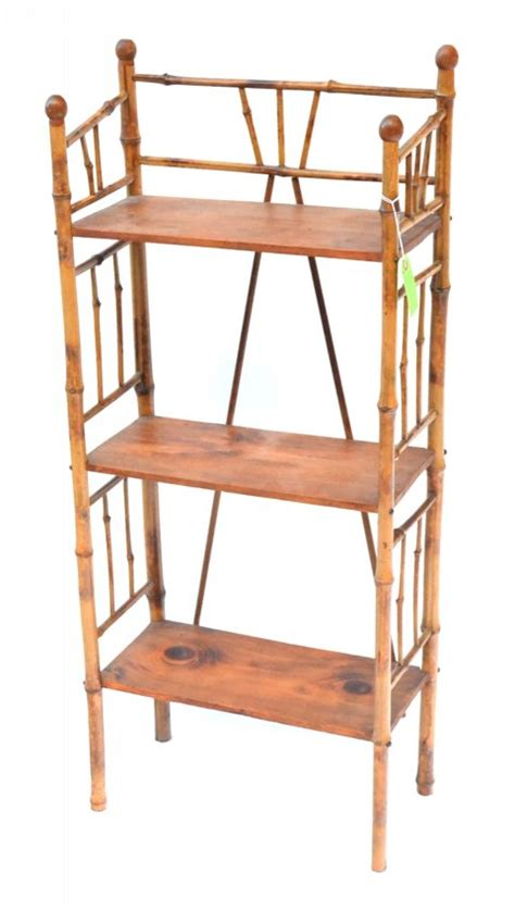 Bamboo Etagere by Antique Bamboo Etagere Lot 1064