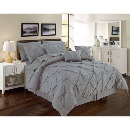 grey pintuck comforter set pintuck gray 11 comforter set sized pinch pleated bedding with sheets king size