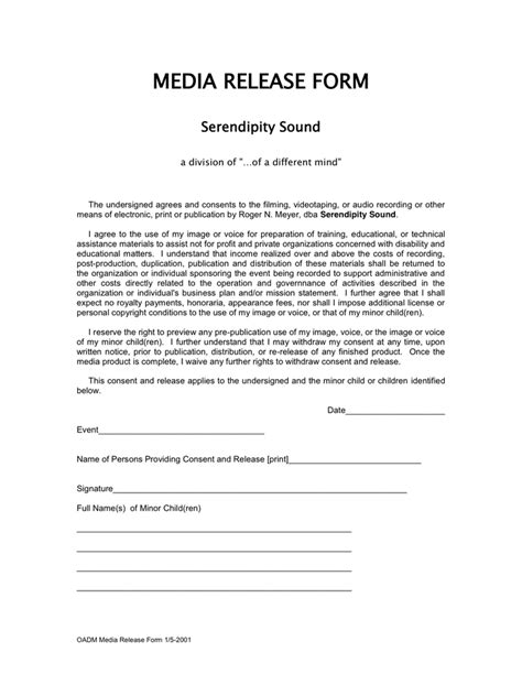 social media photo release form template media release form in word and pdf formats