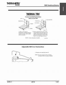 Sill Instructions  Adjustable Sill Cover Instructions