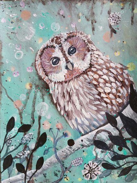 bild vogel tiere fantasie eule von thalyndra bei kunstnet