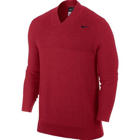 nike mens  neck sweater redblack tennisnutscom