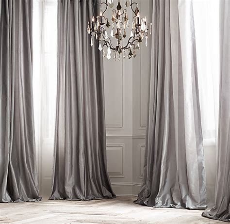 Silk Striped Drapes - silk taffeta pavilion stripe drapery