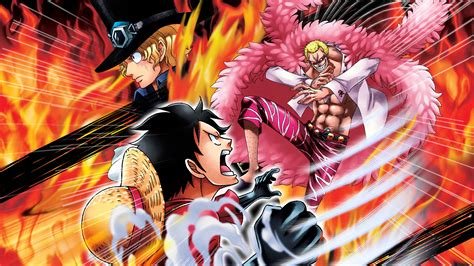 Sabo, Luffy I Doflamingo Wallpaper From One Piece