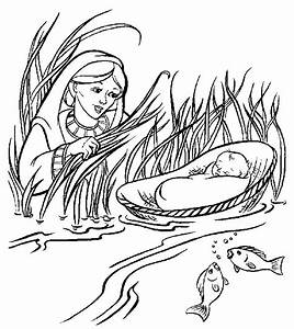 Baby Moses Coloring Pages - AZ Coloring Pages