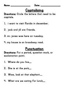 capitalization worksheets 2nd grade google search