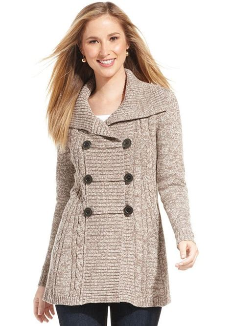 style and co sweaters style co style co marled cable knit cardigan sweaters