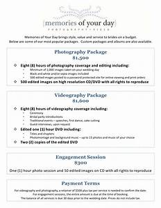 wedding photography package pricing memories of your day With standard wedding photography packages